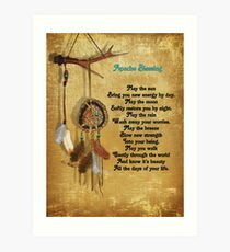 Dreamcatcher Apache blessing Art Print