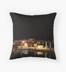 Seaplanes at night Throw Pillow