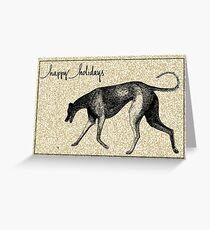 Holiday Greyhound Trot Greeting Card