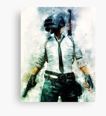 PUBG - Watercolor Painting The Unknown Canvas Print