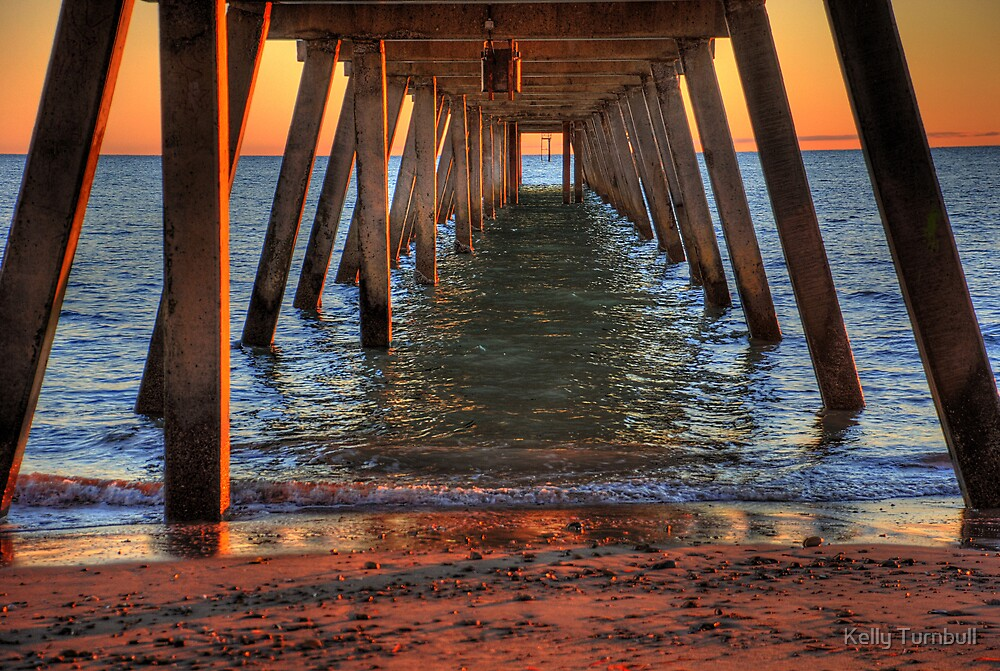 Glenelg Jetty, South Australia by Kelly Turnbull