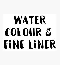 Watercolour and Fine Liner Photographic Print