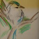 Green Bird by veronica j. k.