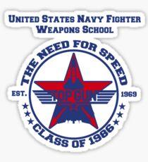 Top Gun Class of 86 - Weapon School Sticker