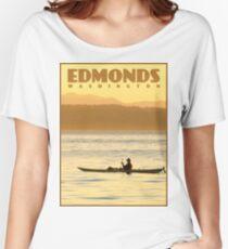 Edmonds, Washington Travel Poster Women's Relaxed Fit T-Shirt