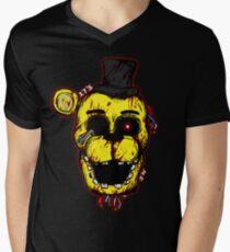 Bloody Golden Freddy FNAF Men's V-Neck T-Shirt