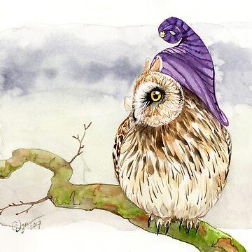 Strange Short-Eared Owl by GoldeenHerself