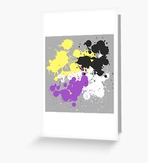 Paint Splatter (Nonbinary) (v.1) Greeting Card