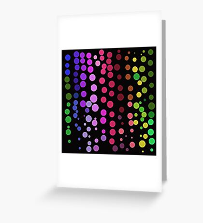 Dot Dance on Black Greeting Card