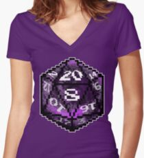 Purple D20 Women's Fitted V-Neck T-Shirt
