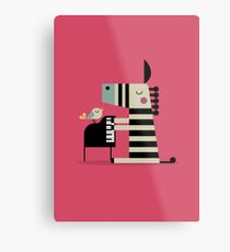 Music Zebra Metal Print