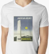Vintage Travel Poster - San Francisco by American Airlines T-Shirt