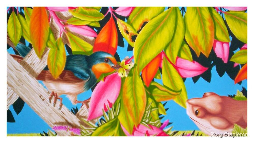 Internal double page illust...GOING HOME (acrylic gouache on Bainebridge brd) by Rory Stapleton