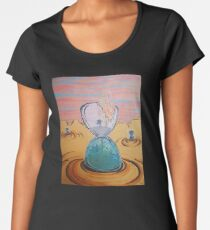 The Sun Is The Same acrylic painting Women's Premium T-Shirt