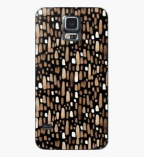 White brown watercolor strokes on a black background Case/Skin for Samsung Galaxy