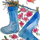Bird Nest in Socks by Claire Bull