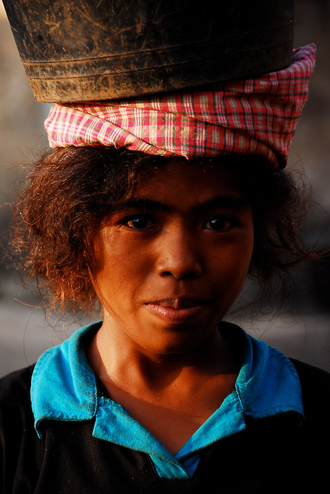 Sumbanese girl by matt mackay