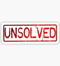 Unsolved  Sticker