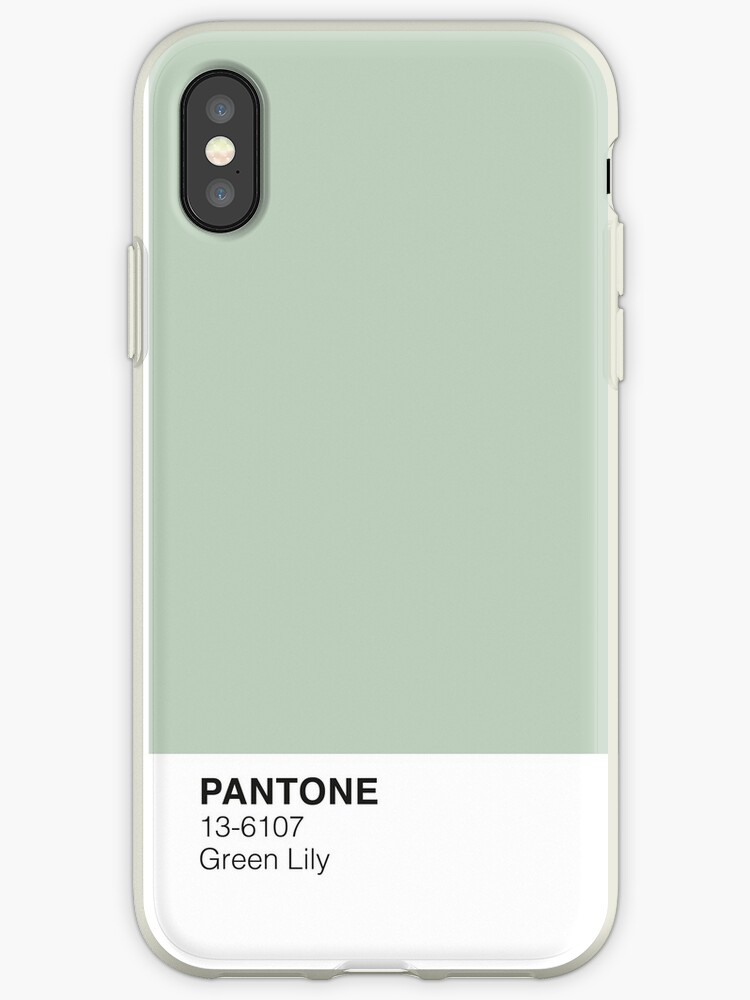 official photos 191dd 437bd 'Green Lily Pantone' iPhone Case by PineappleInk