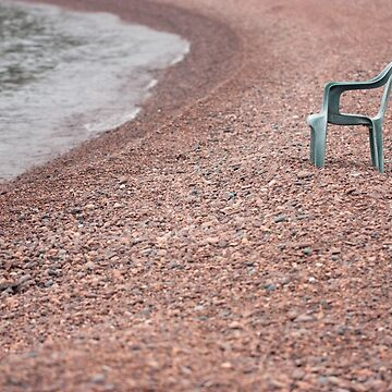 Empty Chair on Pebble Beach by AprilKoehler
