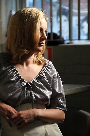 Silver Silk Hailspot shirt by Lisa Defazio