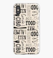 hand lettered food pattern iPhone Case/Skin