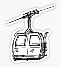 Ski and Snowboard Mountain Gondola Chairlift Sticker