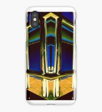 Chrome bars on Blue and Gold iPhone Case/Skin