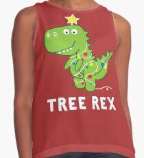 Funny Christmas Dinosaur Tree Rex Contrast Tank
