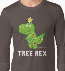 Funny Christmas Dinosaur Tree Rex Long Sleeve T-Shirt
