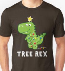 Funny Christmas Dinosaur Tree Rex T-Shirt