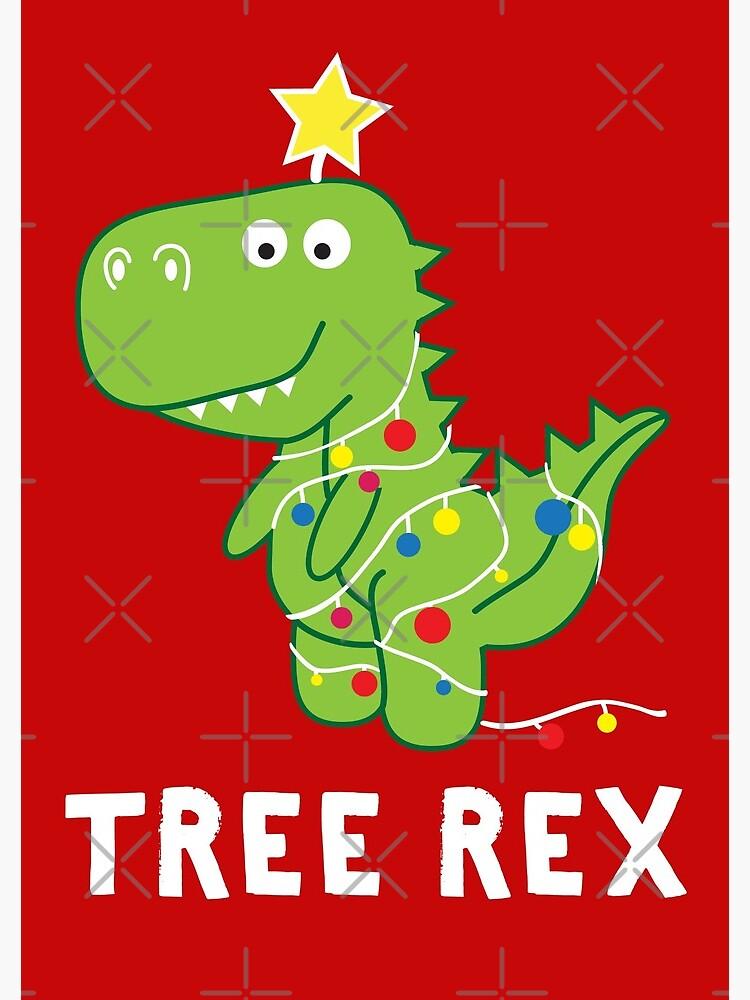 Christmas Dinosaur.Funny Christmas Dinosaur Tree Rex Spiral Notebook