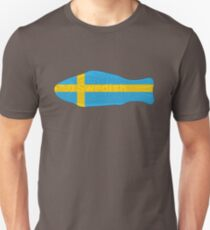 Swedish Fish in Swedish Flag Tshirt Unisex T-Shirt