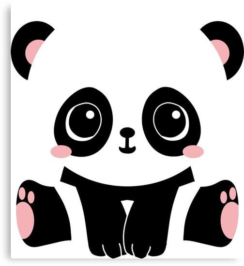 Lienzo Kawaii Panda De Reethes Redbubble