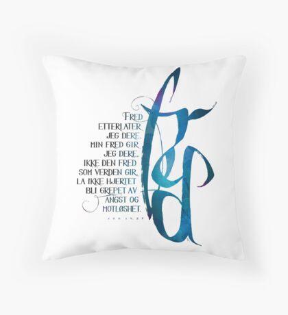 Fred etterlater jeg dere Throw Pillow