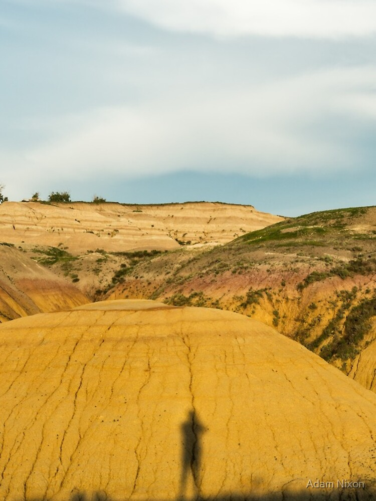 Yellow mounds in Badlands South Dakota by adamnixon