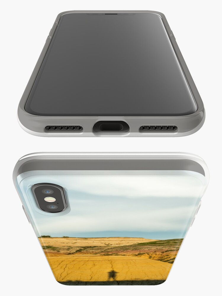 Alternate view of Yellow mounds in Badlands South Dakota iPhone Case & Cover