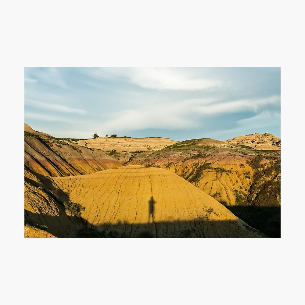 Yellow mounds in Badlands South Dakota Photographic Print