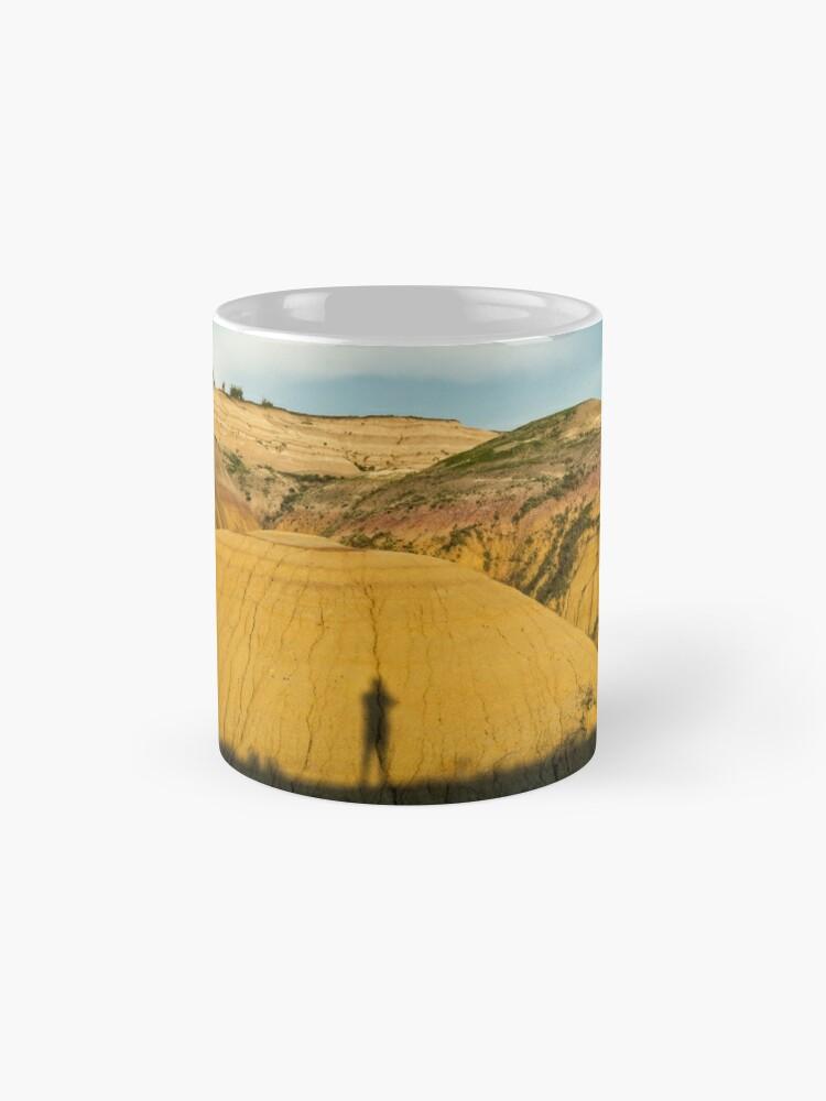 Alternate view of Yellow mounds in Badlands South Dakota Mug