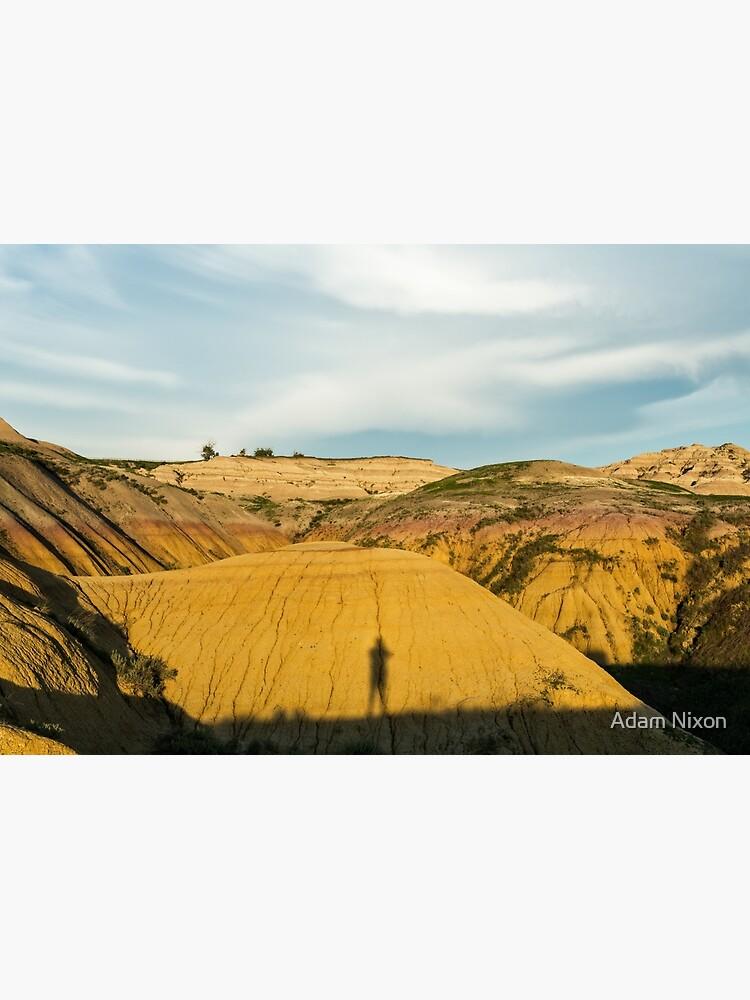 Yellow mounds in Badlands South Dakota by adamnixon