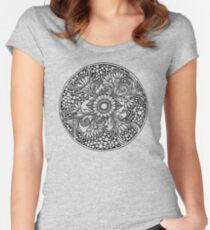 ZenTangle Ring of Daisies Women's Fitted Scoop T-Shirt
