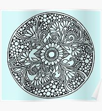 ZenTangle Ring of Daisies Poster