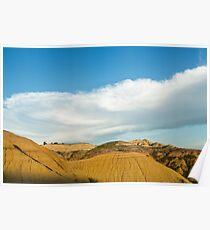 Yellow mounds in Badlands South Dakota Poster