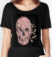 Skull Flowers Women's Relaxed Fit T-Shirt