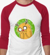 Jake the Dog Reindeer Adventure Time Christmas  Men's Baseball ¾ T-Shirt