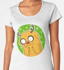 Jake the Dog Reindeer Adventure Time Christmas  Women's Premium T-Shirt
