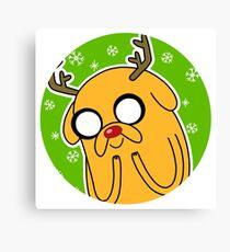 Jake the Dog Reindeer Adventure Time Christmas  Canvas Print