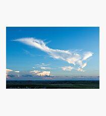 Cloudscape over Badlands National Park Photographic Print