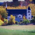 Rural Church in Autumn Colors by kenmo