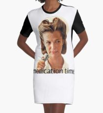 Medication Time Graphic T-Shirt Dress